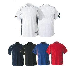 【DESCENTE】デサント 立衿2ボタンベースボールシャツ レギュラーシルエット db-109b 【メール便対応商品】