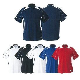 【DESCENTE】デサント 立衿2ボタンベースボールシャツ レギュラーシルエット db-110b 【メール便対応商品】