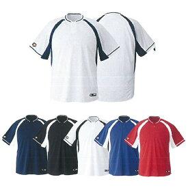 【DESCENTE】デサント ジュニア 2ボタンベースボールシャツ jdb-103b 【メール便対応商品】