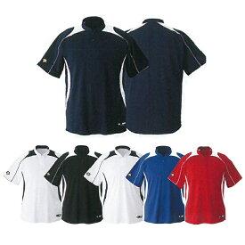 【DESCENTE】デサント ジュニア 立衿2ボタンベースボールシャツ jdb-110b 【メール便対応商品】