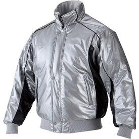 ★ 【asics】アシックス グランドコート 中綿入り ニューレイドレザー素材 Sグレー×ブラック bag001-1090