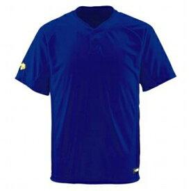 ★ 【DESCENTE】デサント ベースボールシャツ 2ボタン Vネック ロイヤルブルー db-201-roy 【メール便対応商品】
