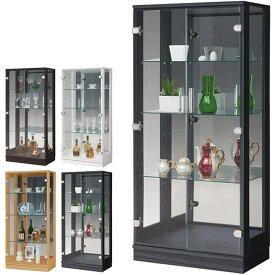 コレクションケース ショーケース フィギュアケース 幅60cm ミドルタイプ コレクションボード リビング収納 ガラス扉 木製 ガラスケース ディスプレイラック 飾り棚