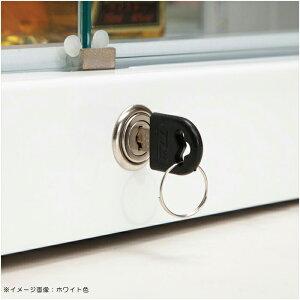 コレクションケースコレクションボード幅70cmLEDライト鍵付き完成品ガラス扉木製ディスプレイラックフィギュアリビング収納ミドルタイプ