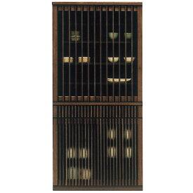 食器棚 完成品 和風 幅90cm キッチン収納 タモ無垢 ダイニングボード 日本製 国産 モダン カップボード キッチンボード 木製 ガラス扉