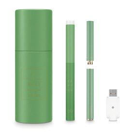 ロアレス スターターセット グリーン 04REST(midnight muscat) シーテック c-tec duo 充電式 ゼロ 電子タバコ ビタミンC 成分配合 ミストサプリ vape ベイプ