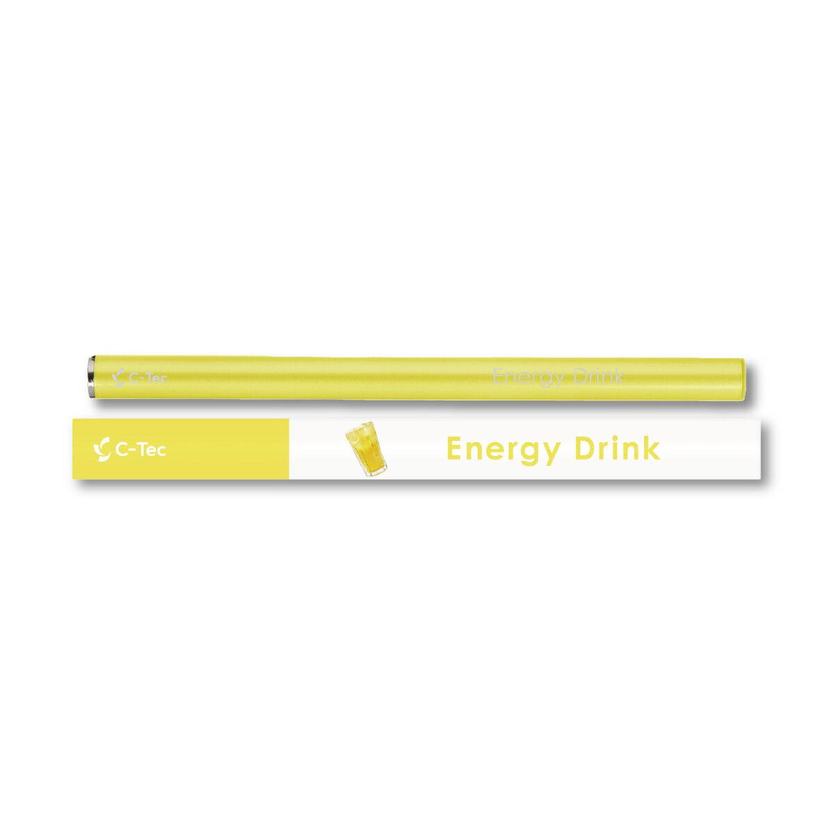 シーテック スティック エナジードリンク 使い捨てタイプ 携帯ケース付き 電子タバコ 送料無料 c-tec stick ニコチン0 タール0 副流煙0 ビタミン 成分配合