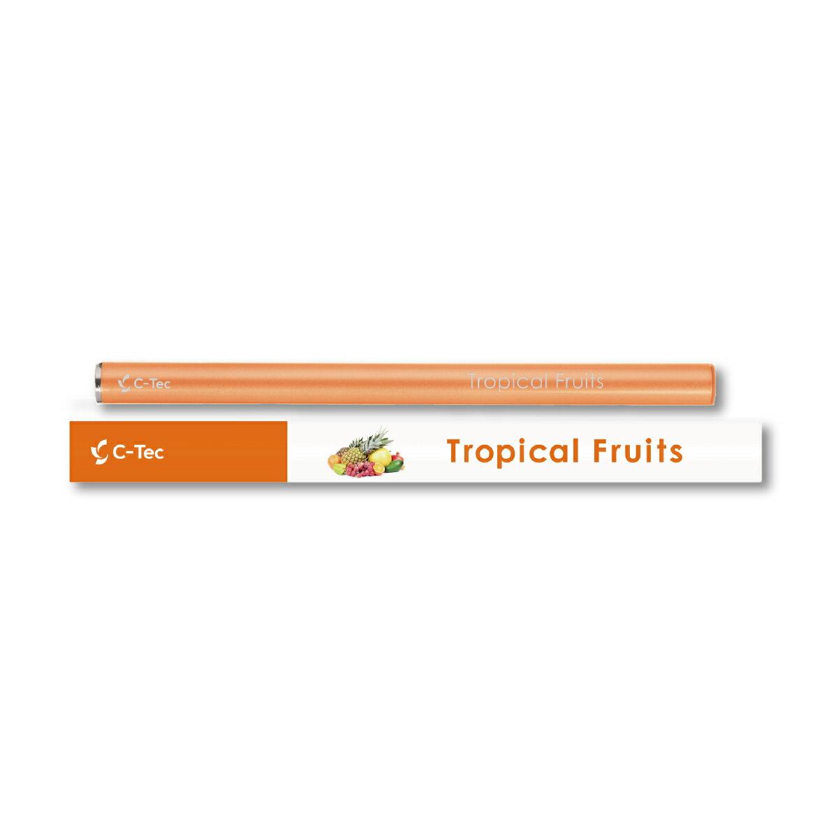 シーテック スティック トロピカル フルーツ 使い捨てタイプ 携帯ケース付き 電子タバコ 送料無料 c-tec stick ニコチン0 タール0 副流煙0 ビタミン 成分配合