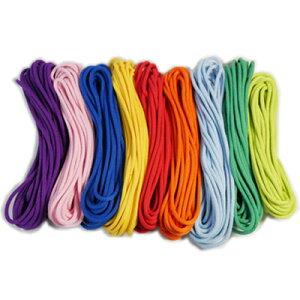 かつぎ桶太鼓 交換用ロープ(しらべ) 8mm×18m 紫・桃・青・黄・赤・橙・水色・緑・若草 【かつぎ桶交換用】