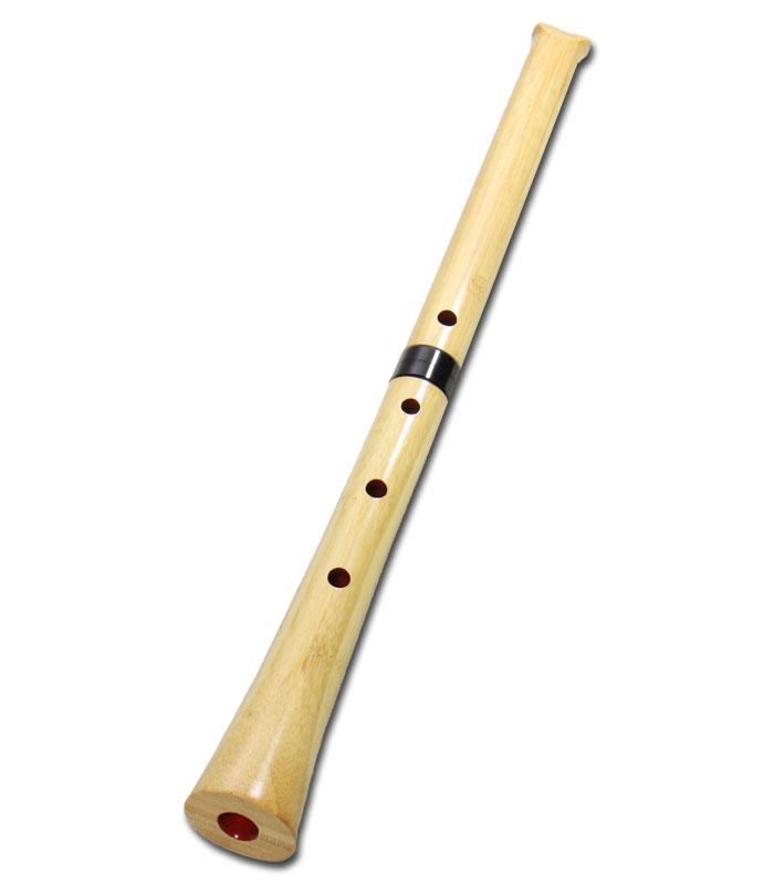 尺八(合竹) 曲管 節無し 1尺8寸 (2103)