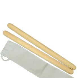 長胴太鼓バチ ブナバチ 2.1×33cm 子ども向 幼児向 収納袋付 2本1組