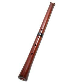 みさと尺八 紅紫檀 直管 節無し 2尺1寸 (1109)