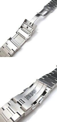24mmTAIKONAUTメタル時計バンドステンレススチールバンドリアブレスレットブラッシュドシルバー