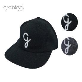 【セール 50%OFF】GRANTED グランテッド WOOL CAP メンズ/レディース ブラック/グレー FREE[ウールキャップ キャップ 帽子 ウール カナダ製 ヴィンテージ ブランド アメカジ アウトドア 黒 灰色]