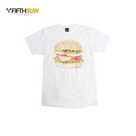 FIFTH SUN フィフスサン TEE BURGER メンズ/レディース ホワイト M-L[Tシャツ 半袖 カットソー プリント アメリカン カリフォルニア アメカジ アメカジブランド 白]