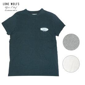 LONE WOLFS ローンウルフズ プリントTシャツ メンズ/レディース ブラック/ホワイト/グレー S-L[Tシャツ 半袖 プリント ロゴ 胸ロゴ アメリカ USA ブランド サーフ サーフブランド 黒 白]