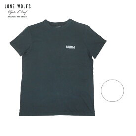 LONE WOLFS ローンウルフズ プリントTシャツ メンズ/レディース ブラック/ホワイト S-L[Tシャツ 半袖 プリント ロゴ 胸ロゴ ブランドロゴ バックプリント アメリカ USA ブランド サーフ サーフブランド 黒 白]
