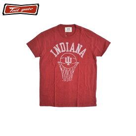 TAILGATE テイルゲート インディアナ Tシャツ メンズ/レディース ダークレッド XS-M[Tシャツ 半袖 カレッジ プリント カナダ カナダ製 アメカジ アメカジファッション ブランド]