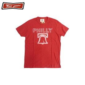 TAILGATE テイルゲート PHILLY Tシャツ メンズ/レディース レッド XS-M[Tシャツ 半袖 プリント カナダ カナダ製 アメカジ アメカジファッション ブランド 赤]