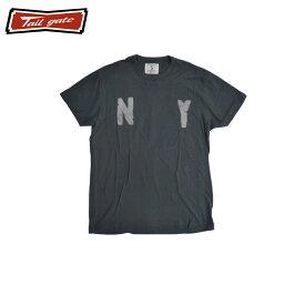 TAILGATE テイルゲート NY Tシャツ メンズ/レディース ブラック XS-M[Tシャツ 半袖 ニューヨーク NYC USA プリント カナダ カナダ製 アメカジ アメカジファッション ブランド]