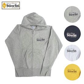 Yellow Rat イエローラット ZIP HOODIE CLASSIC BOX メンズ/レディース グレー/ネイビー/ホワイト/イエロー S-L[パーカー ボックスロゴ ジップパーカー ジップアップ カジュアル アメリカ カリフォルニア ブランド アメカジ サーフ 黄色 白]