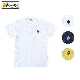 Yellow Rat イエローラット POCKET TEE CLASSIC BOX メンズ/レディース ホワイト/ネイビー/イエロー S-L[Tシャツ 半袖 ポケット ポケT 半袖Tシャツ カットソー カジュアル アメリカ カリフォルニア ブランド アメカジ サーフ サーフブランド 白 紺 黄色]