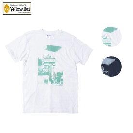 Yellow Rat イエローラット TEE LINDA LEA THEATER メンズ/レディース ホワイト/ネイビー S-L[Tシャツ 半袖 半袖Tシャツ グラフィックTシャツ カットソー カジュアル アメリカ カリフォルニア ブランド アメカジ サーフ サーフブランド 白 紺]
