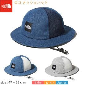 ノースフェイス キッズロゴ メッシュ ハット NNJ02002 (47〜56cm)