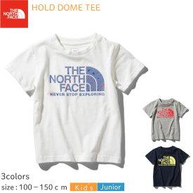 【メール便送料無料(1枚のみ)】ノースフェイス ホールド ドームTシャツ NTJ32050 (※送料は後ほど店舗にて訂正させて頂きます。)(100〜150cm)