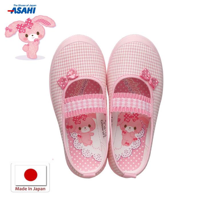 asahi shoes (アサヒシューズ)キャラクター 上靴 ボンボンリボン S01 KD37141 ピンク 上ばき キッズ用 男の子 女の子 学校 幼稚園 保育園 日本製