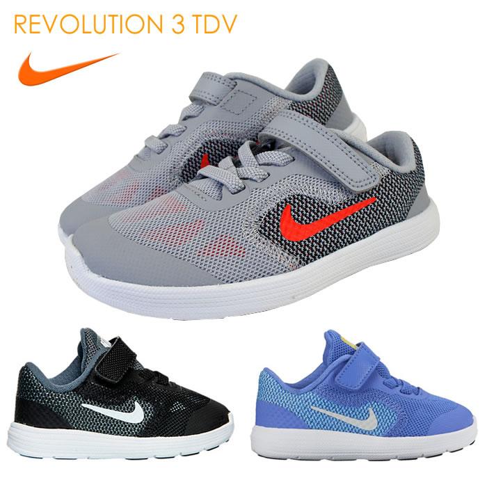 ナイキ (nike)子供靴 スニーカー ナイキ レボリューション 3 TDV NIKE REVOLUTION 3 TDV 819415-819418 全8色ベビー/キッズ用 男女兼用モデル