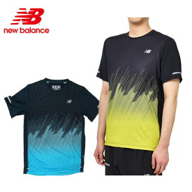 ニューバランス newbalance ランニングウェア NB Hanzo ICE プリントショートスリーブTシャツ AMT81201メンズ(男性用) 19FW (1枚までメール便OK)