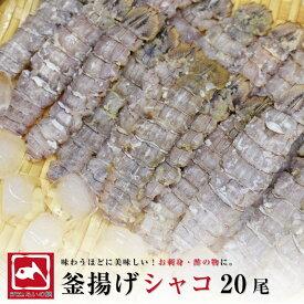 しゃこ 刺身用しゃこ 20尾 ムキシャコ シャコエビ ガサエビ シャッパ ボイル 寿司ダネ 珍味 釜揚げ 塩茹で ばら寿司 旬