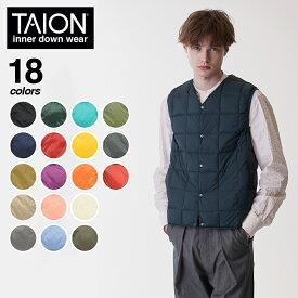 TAION(タイオン)Vネックボタンインナーダウンベスト インナーダウン ダウン ダウンベスト ボタン メンズ 001