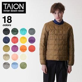 TAION(タイオン)クルーネックボタンダウンジャケット インナーダウン ダウン ジャケット クルーネック メンズ 104