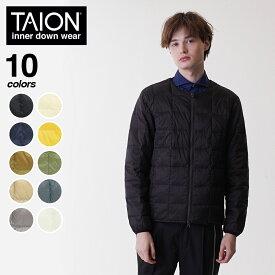 TAION(タイオン)クルーネックWジップダウンジャケット インナーダウン ダウン ジャケット クルーネック メンズ 105