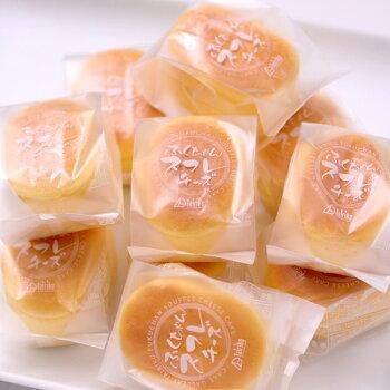 スフレチーズケーキ10個入り濃厚チーズをしっとり仕上げて、口どけなめらか☆半解凍で食べると、ひんやりとしっとりが絶妙においしい♪