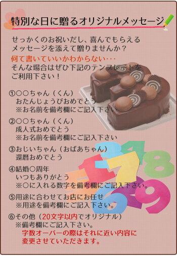 誕生日ケーキアニバーサリーケーキ☆記念の数字を形にできちゃう!『ナンバーケーキ』7号生チョコレートタイプ【バースデーケーキお誕生日記念日成人式還暦メモリアルお祝い大陸お取り寄せ通販】【RCP】
