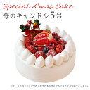 【特製 クリスマスケーキ 予約 2020】苺のキャンドル 5号 直径15cmご予約受付中!クリスマス向け特製ケーキ★家族で、友達と、皆で♪