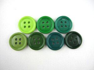 ☆緑・オリーブ系☆ツヤのあるカラフルボタン♪入園 入学 通園 通学 工作 グリーン
