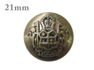 定番エンブレムメタルボタン 21mm×1個(金属調・4色展開)