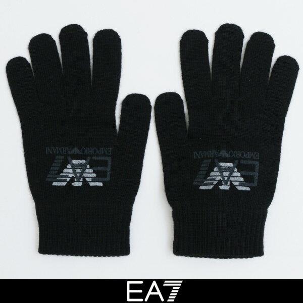 EMPORIO ARMANI(エンポリオ・アルマーニ)手袋 ニットグローブブラック275715 7A393