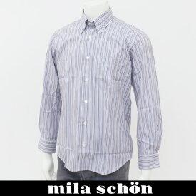 mila schon(ミラ・ショーン)長袖カジュアルシャツマルチカラー31160 120 80