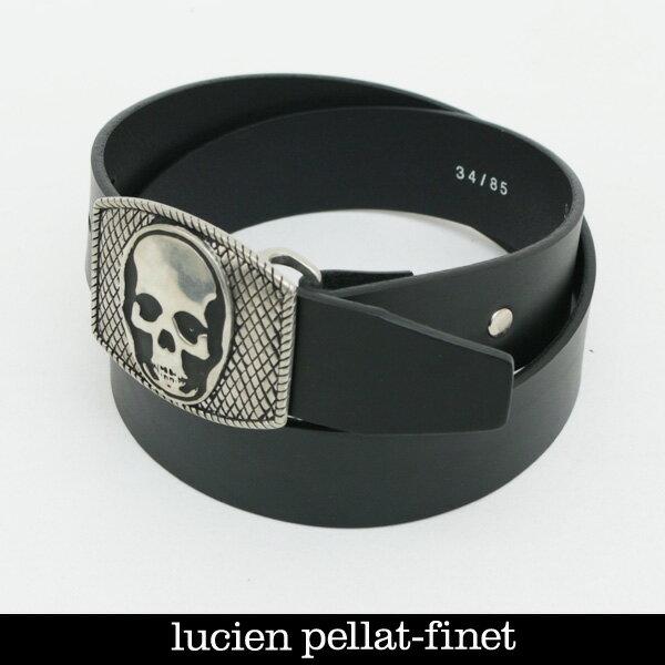 lucien pellat-finet(ルシアンペラフィネ)スカルバックルレザーベルトブラックBELT2