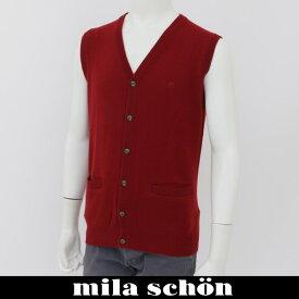 mila schon(ミラ・ショーン)ニットベストレッド31383 120 80