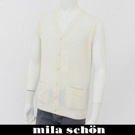 mila schon(ミラ・ショーン)ニットベストホワイト31783 126 01