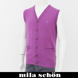 mila schon(ミラ・ショーン)ニットベストパープル31783 126 61