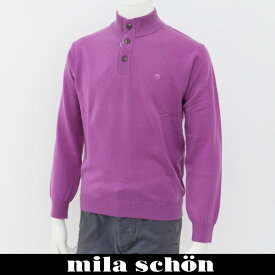 mila schon(ミラ・ショーン)ハイネックセーターパープル31780 124 61