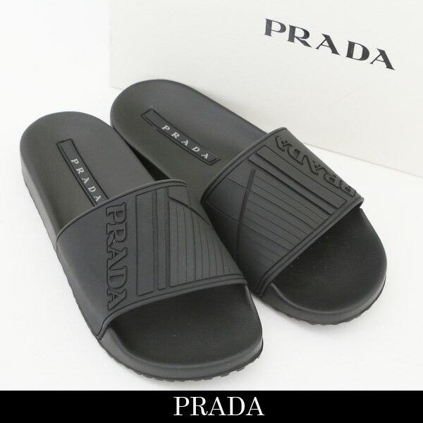 PRADA(プラダ)フラットサンダルブラック4X3204 B4O F0002