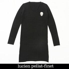 Lucien Pellat-finet(ルシアンペラフィネ)レディーススカルカシミアセーターブラックNB83F 65310